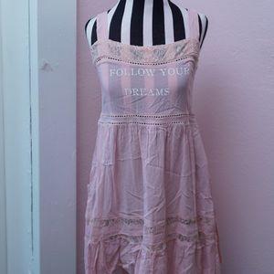 Wildfox Pink Pinafore Dress